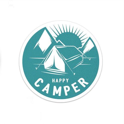 Happy Camper Sticker | Camping Sticker | Laptop Sticker | Car Decal ...