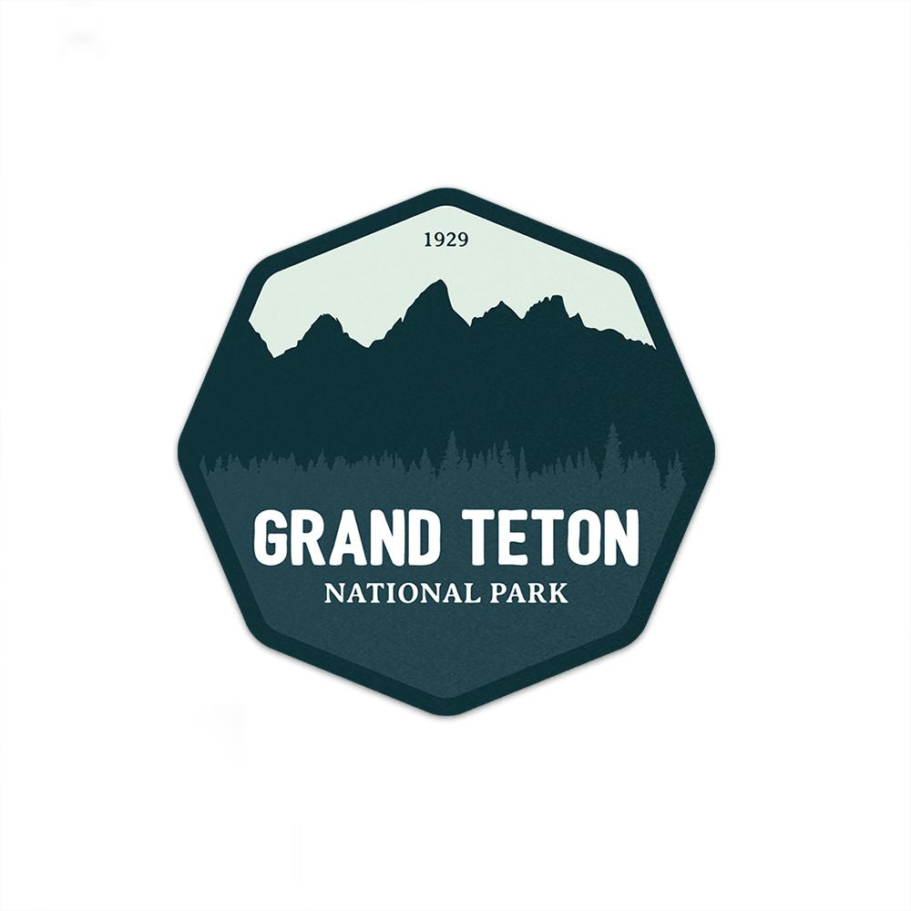 Grand Teton National Park Sticker | National Park Decal U2014 Purple Moose  Basics | National Park Posters | Vintage Maps | Fine Art