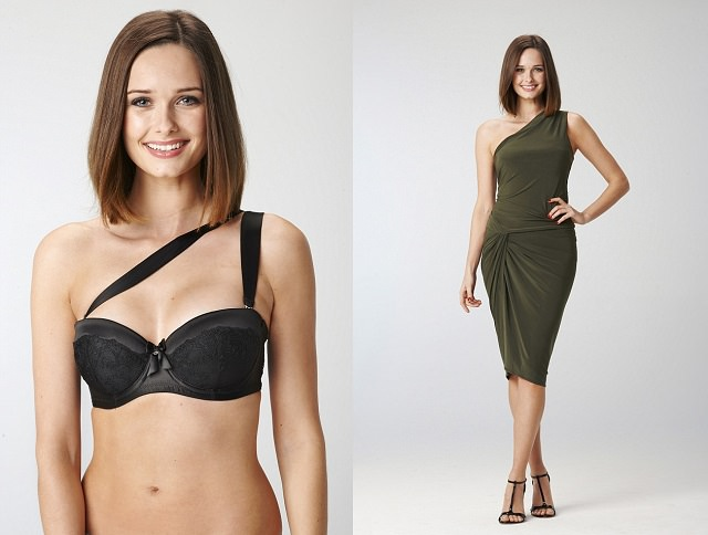 multi-way bra with one-shoulder dresses