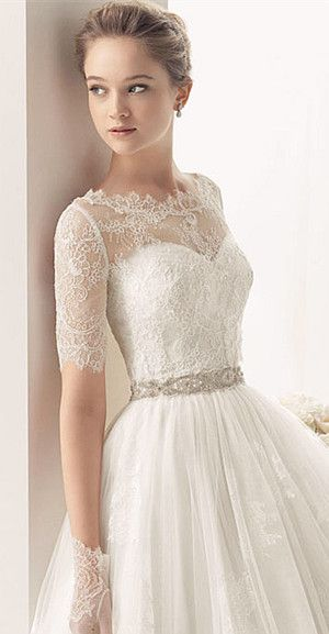 lace wedding gown with the multi-way bra