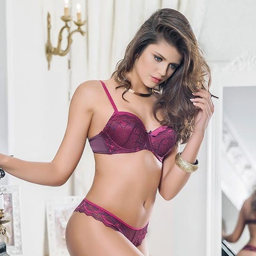 anil cherry bra string set