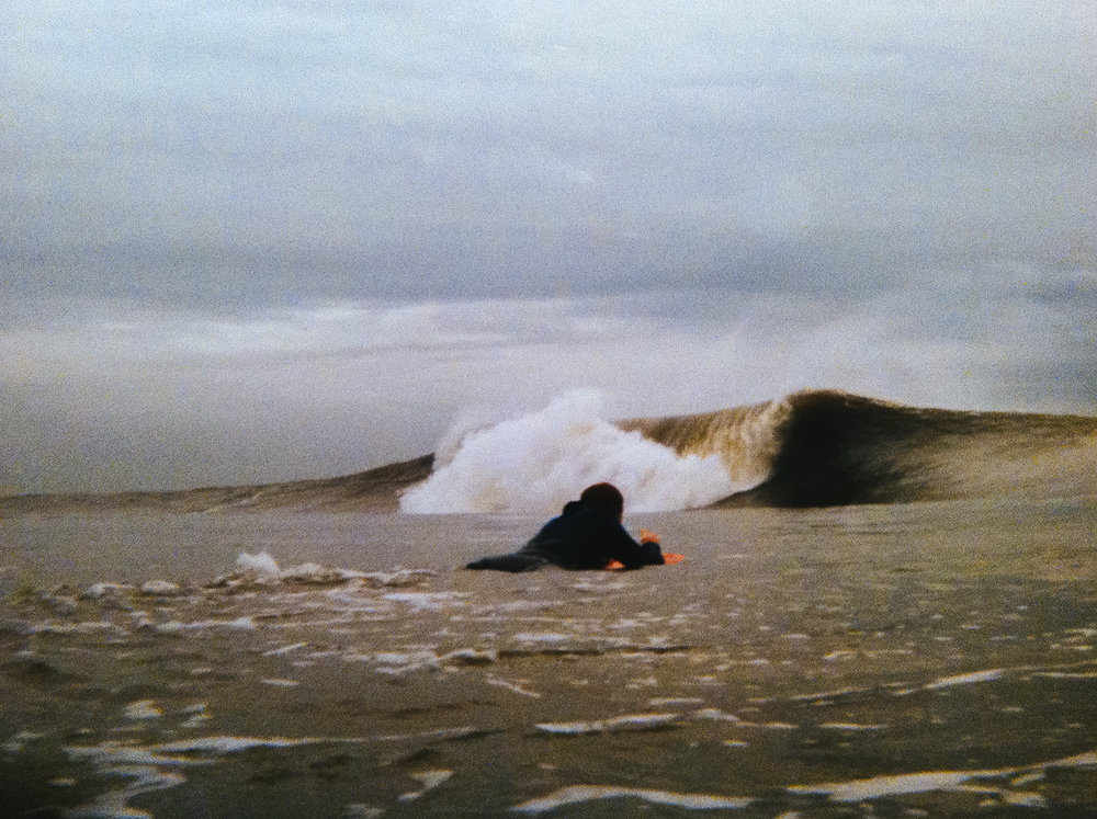 1998 - Long Beach, NY - Tom Zaffuto paddling out