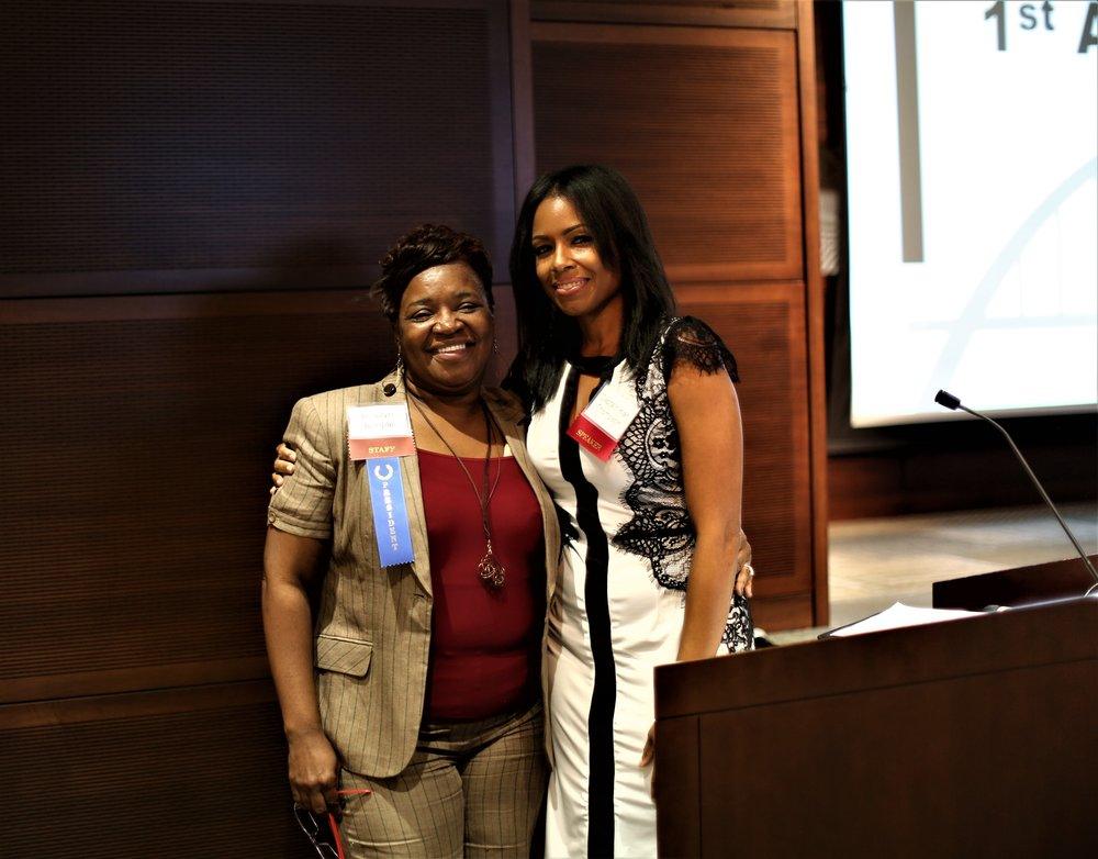 Founder and Executive Director Rosilyn Temple (left) and Emcee Captain Kari Thompson (Right)