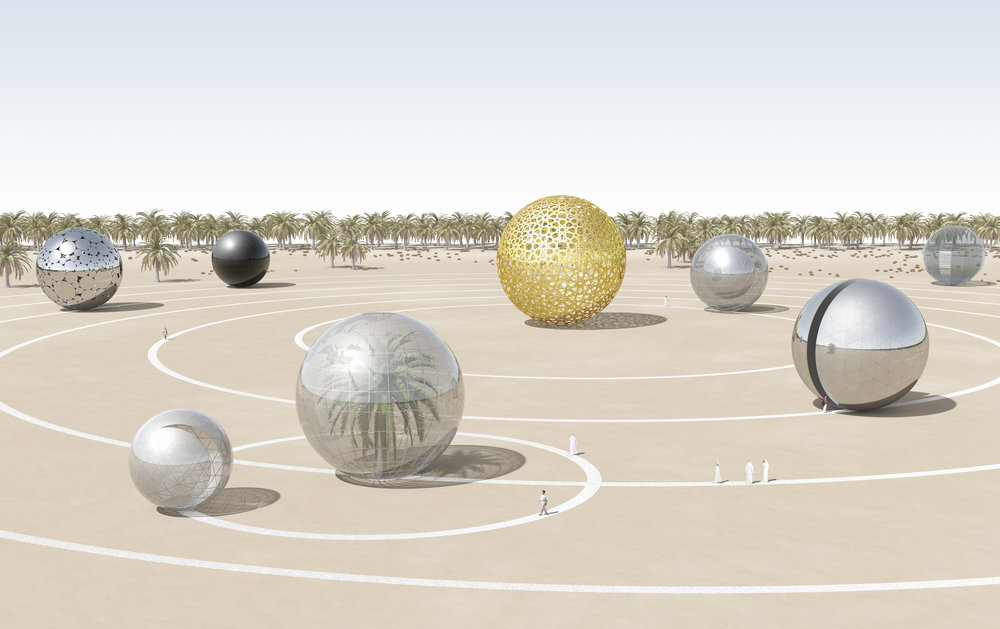 Solar ECO System by Antonio Macci and Flavio Masi was a submission to the 2010 LAGI design competition for Dubai and Abu Dhabi