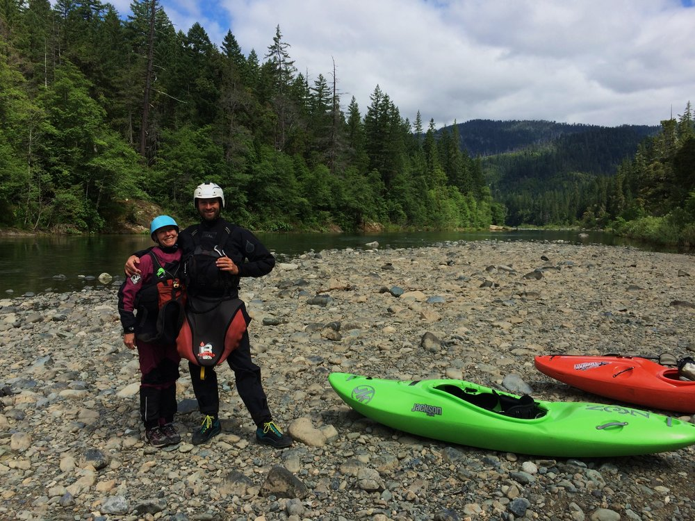 Loving the Devils Club Drysuit.  I was a lot dryer than Laura on our multi-day trip down the Illinois River in Oregon.  She's up next for an upgrade!