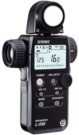 The Sekonic L-558 Dualmaster.
