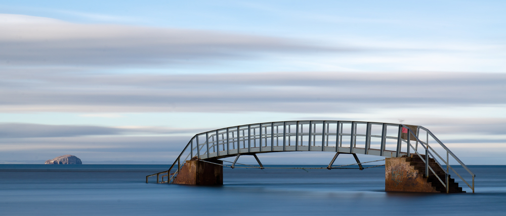 The Bridge to Nowhere, Belhaven Beach, Dunbar.