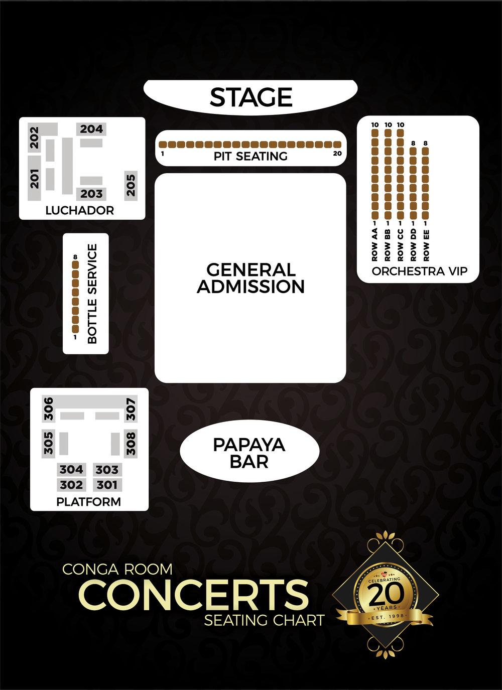 Seating Chart | Conga Room