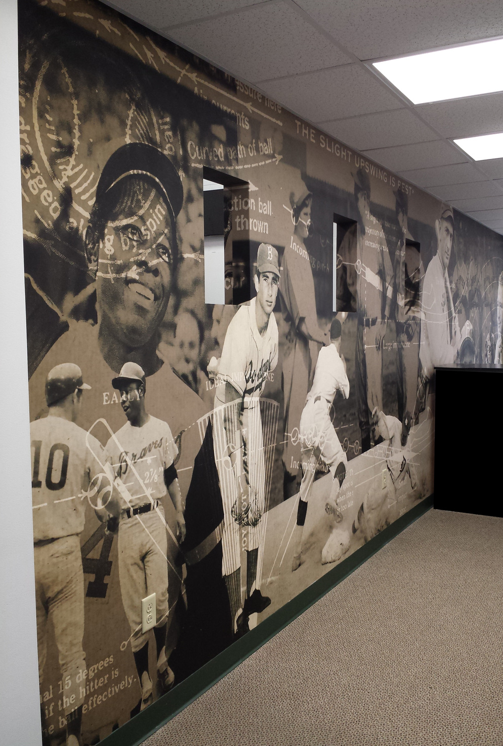 Delta Hitting Center Entrance Mural