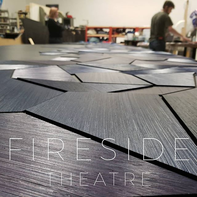 Toby and Tyler working on this beautiful piece for the @firesidetheatre  #spolarstudio #firesidetheatre #mkesmallbusiness #designmke #behindthescenes #staytuned
