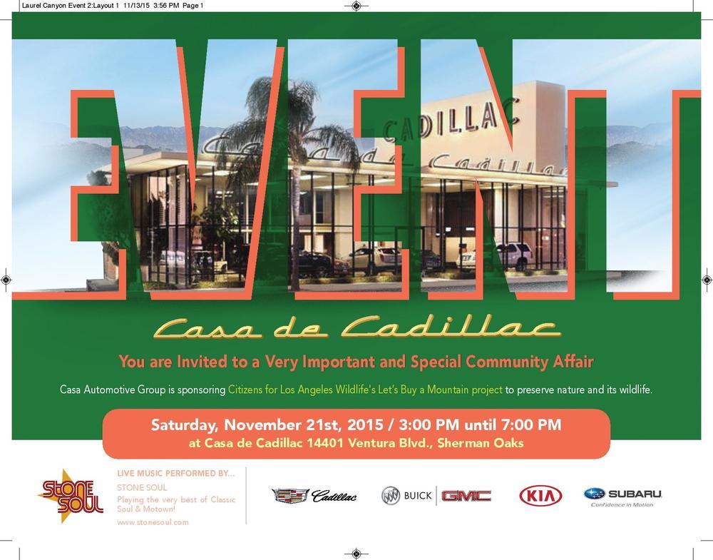 Casa De Cadillac Fundraiser For Let S Buy A Mountain Citizens For
