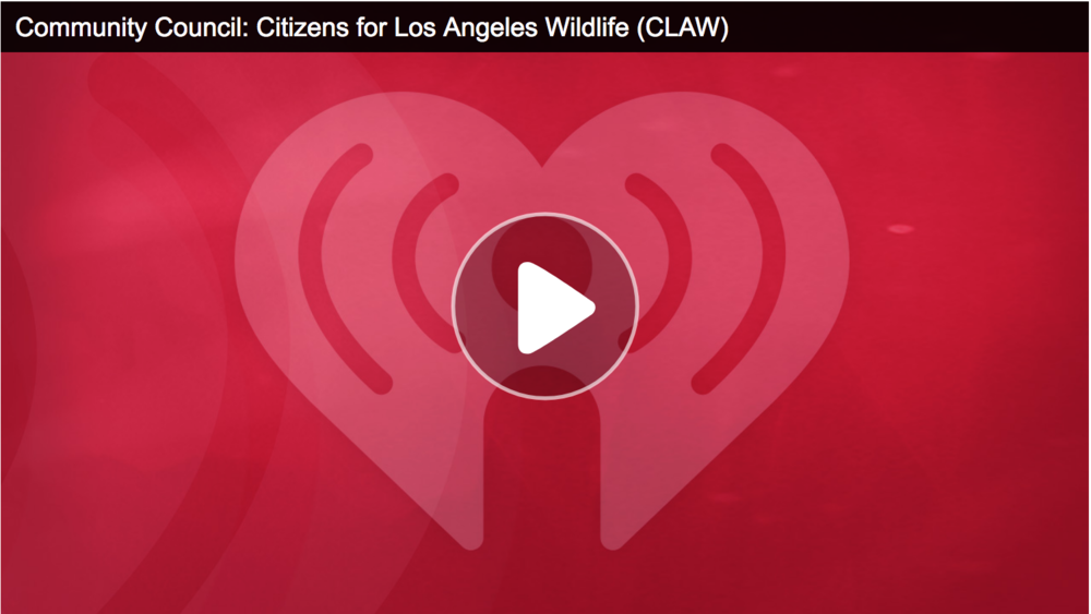 An interview with CLAW Chair Tony Tucci for iHeartRadio's Community Council.