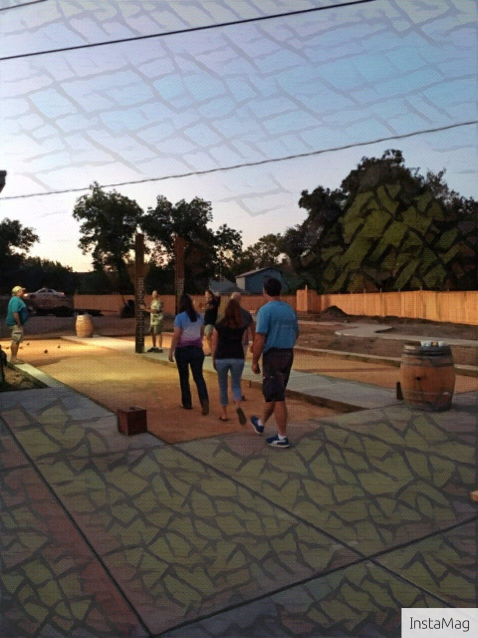 Bocce Ball Courts day and night