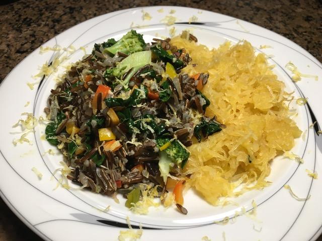 Wild Rice Salad with Spaghetti Squash created in Connie's Kitchen