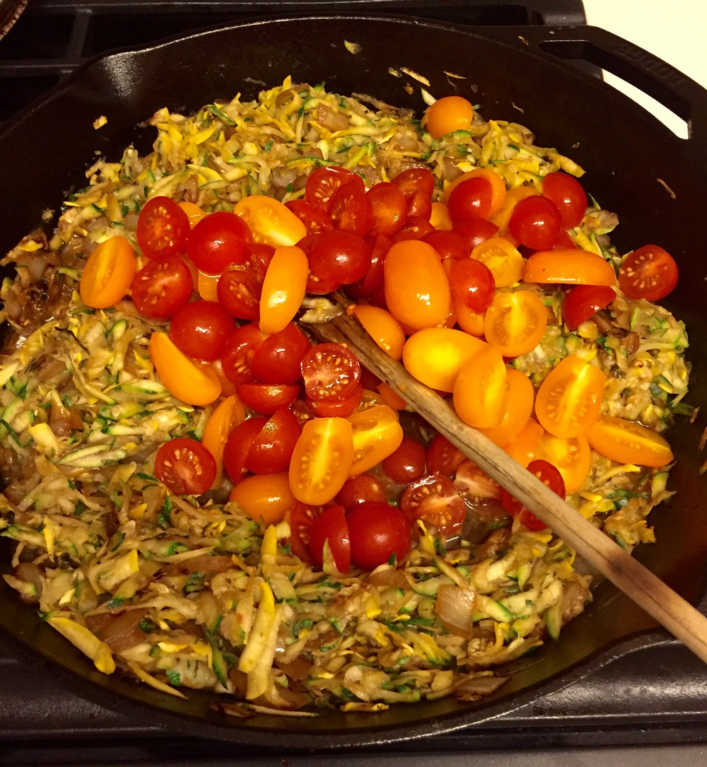 cherry tomatoes healthy zucchini rice recipe