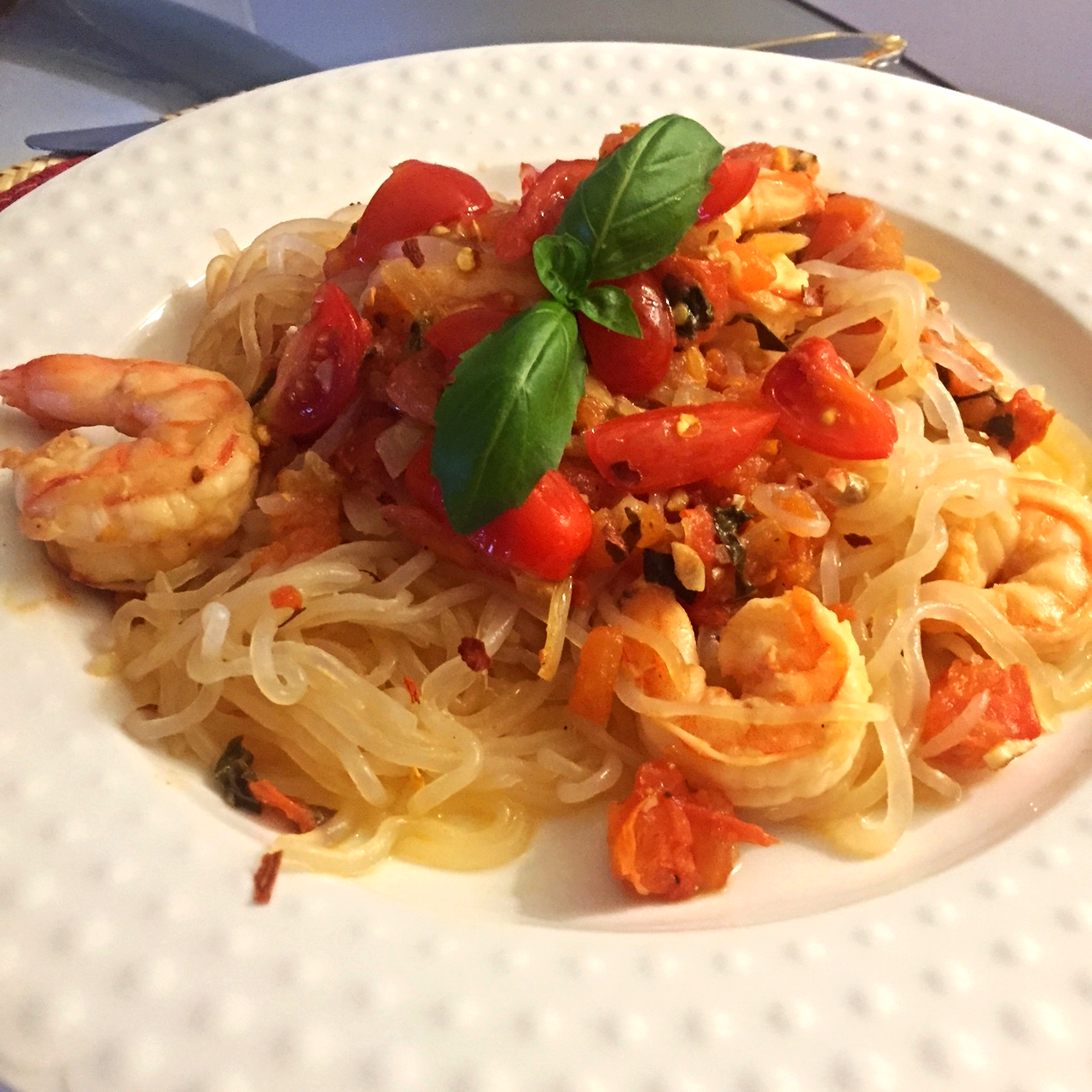 Angel Hair Pasta With Shrimp Tomato And Basil Fitproactive