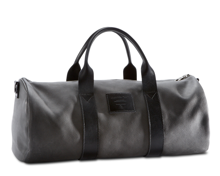 grey leather fashion gym bag kill spencer