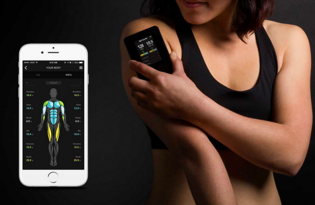 skulpt measure body muscle quality fitness gadget