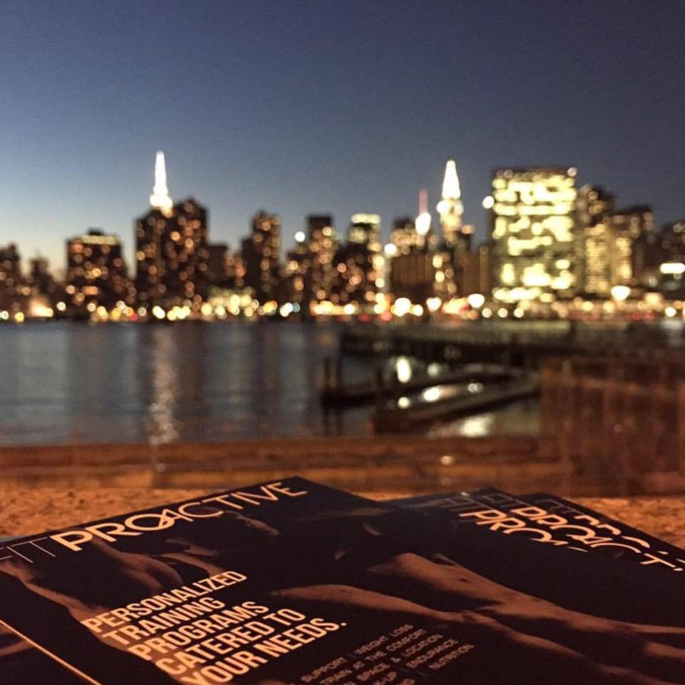 Fitproactive personal trainers flyers in LIC with NYC view