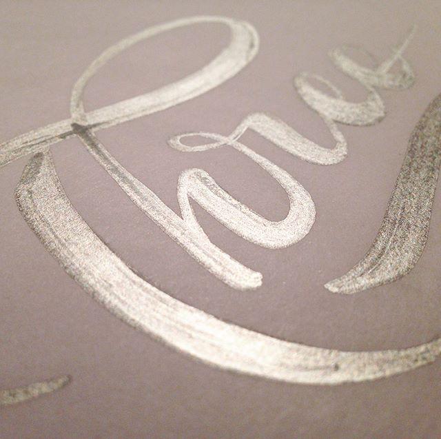 Three #handlettering #three #3 #lettering #designaday #silver #metallic #sharpie #pen #pencil #graphicdesign #typography @sharpie
