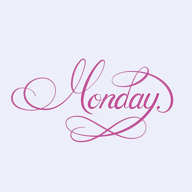Monday #mondaymotivation #handlettering #handdrawing #vector #lettering #typography #design #pink #flourish #calligraphy #designaday