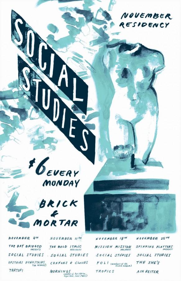 SOCIAL STUDIES residency poster
