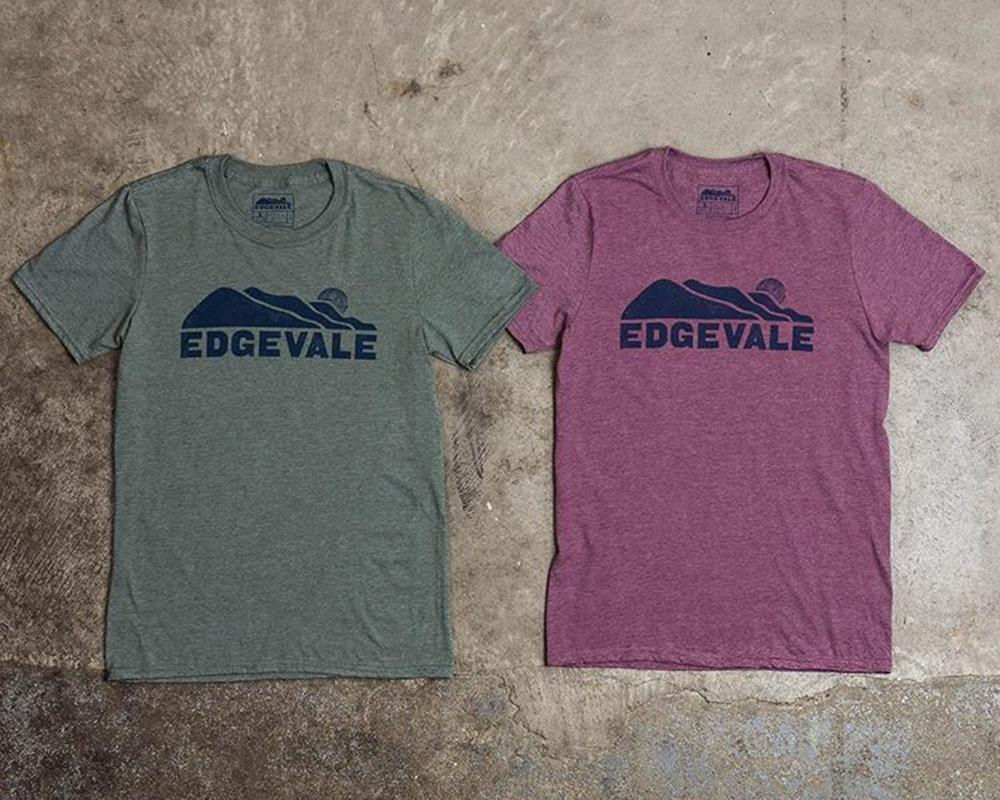 Edgevale logo tees, 2018