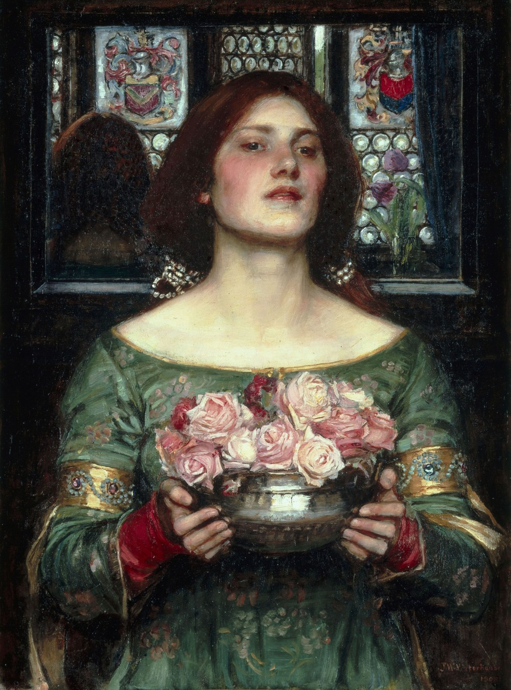 """Gather Ye Rosebuds While Ye May"" by John William Waterhouse - Licensed under Public Domain via Wikimedia Commons"