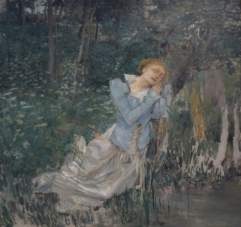 """Jules Bastien-Lepage-Ophélie-Musée des beaux-arts de Nancy"" by Jules Bastien-Lepage - Own work Ji-Elle. Licensed under CC BY-SA 3.0 via Wikimedia Commons"