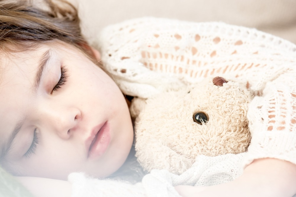 A teddy bear is easy for your child to find on their own in the middle of the night and can help them go back to sleep more easily.