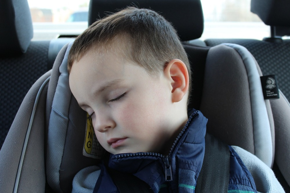 If you find your child is falling asleep in the car you may need to adjust their nap schedule!