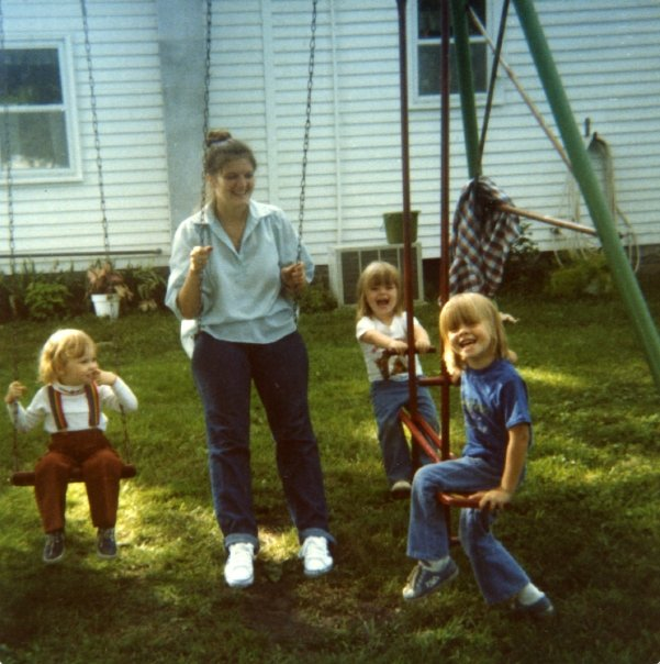 This is my swing set picture with my mom!