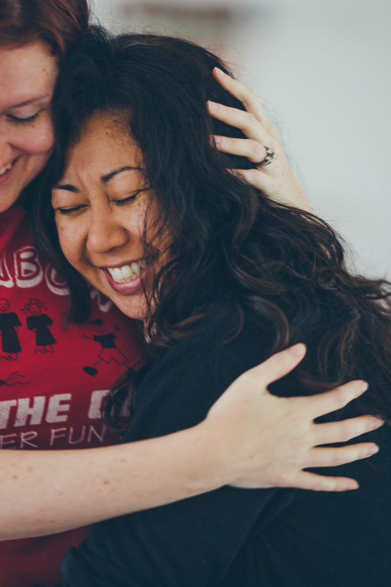 Offering a friend a hug can be a gift that creates a ripple effect. Thank you Kameron for catching this (one of my favorite pictures of me and my friend, Tracy). <3