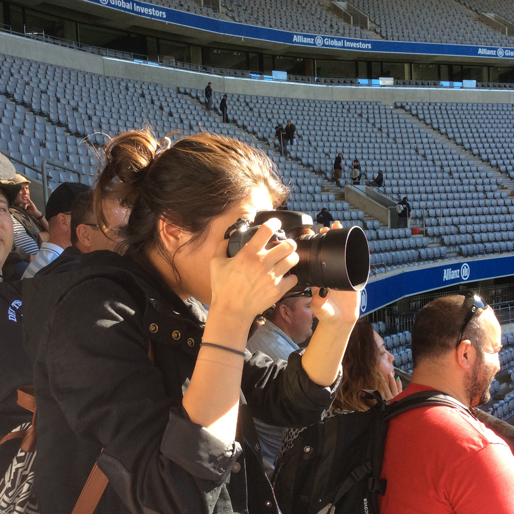 Photograph by.....my mother in collaboration with my sanity in Munich's Allianz Arena. 10/2014