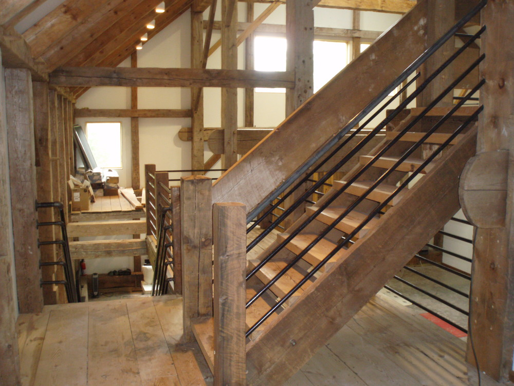 Custom Log and Timber Stairs                  Click here for more information