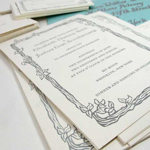 invitation layout for letterpress