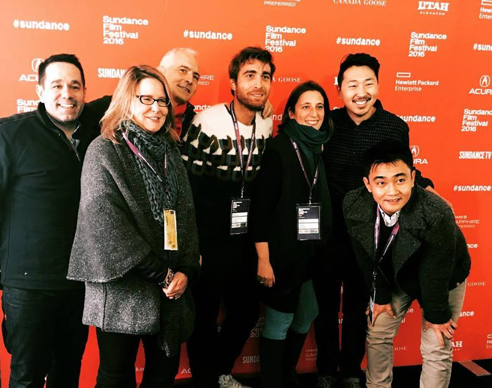 L-R: EP James Kuan, Producers Kelly Thomas and David Ariniello, EP Mattia Bogianchino, Producer Giulia Caruso, Director Andrew Ahn, Producer/ DOP Ki Jin Kim