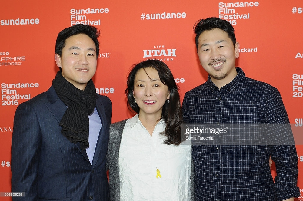 L-R: Joe Seo (David Cho), Haerry Kim (Soyoung Cho), director Andrew Ahn