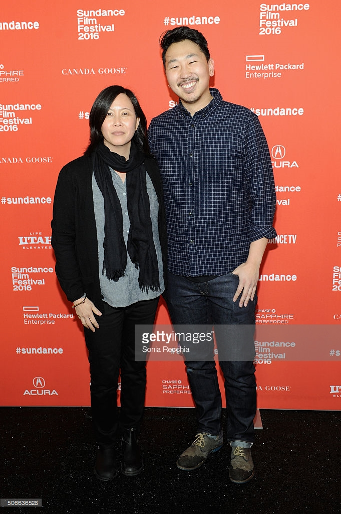 Sundance programmer Kim Yutani and director Andrew Ahn at the premiere of Spa Night.