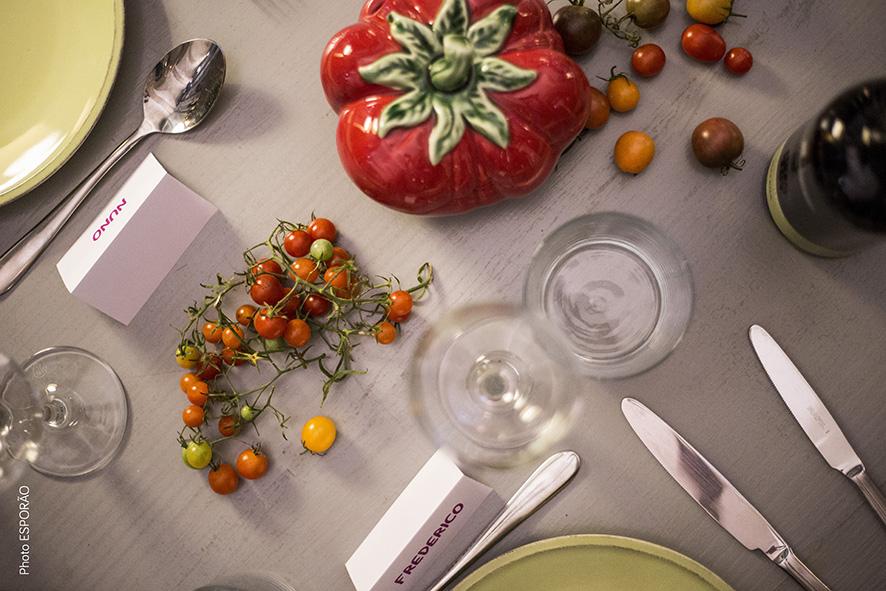 Tomates Bordallo Pinheiro e Ervas Finas