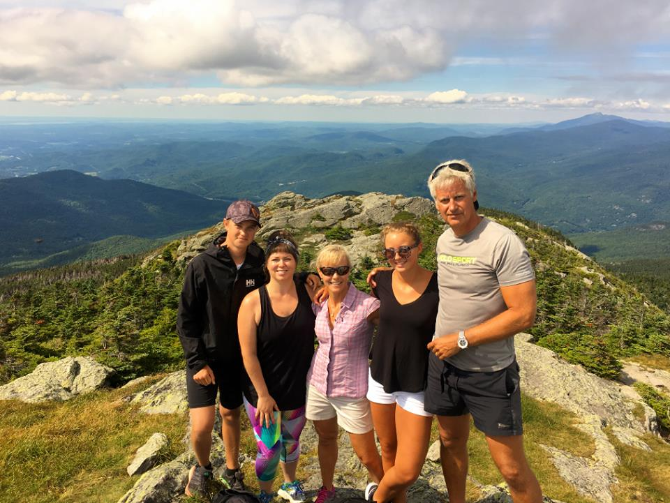 my swedish family & i on the top of camel's hump!