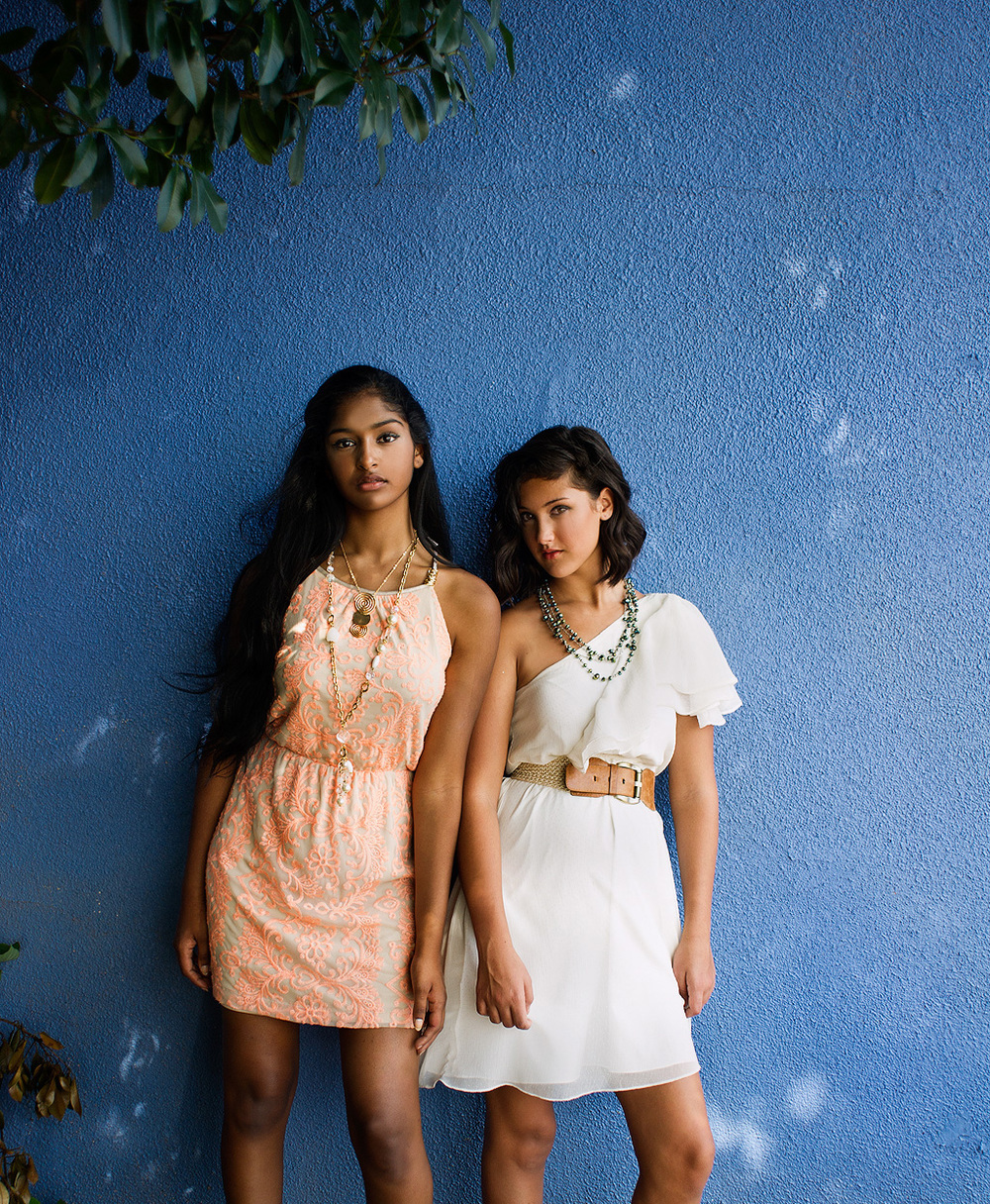 Kaaviya and Alexandra Peach n White dresses_Cece_web.jpg