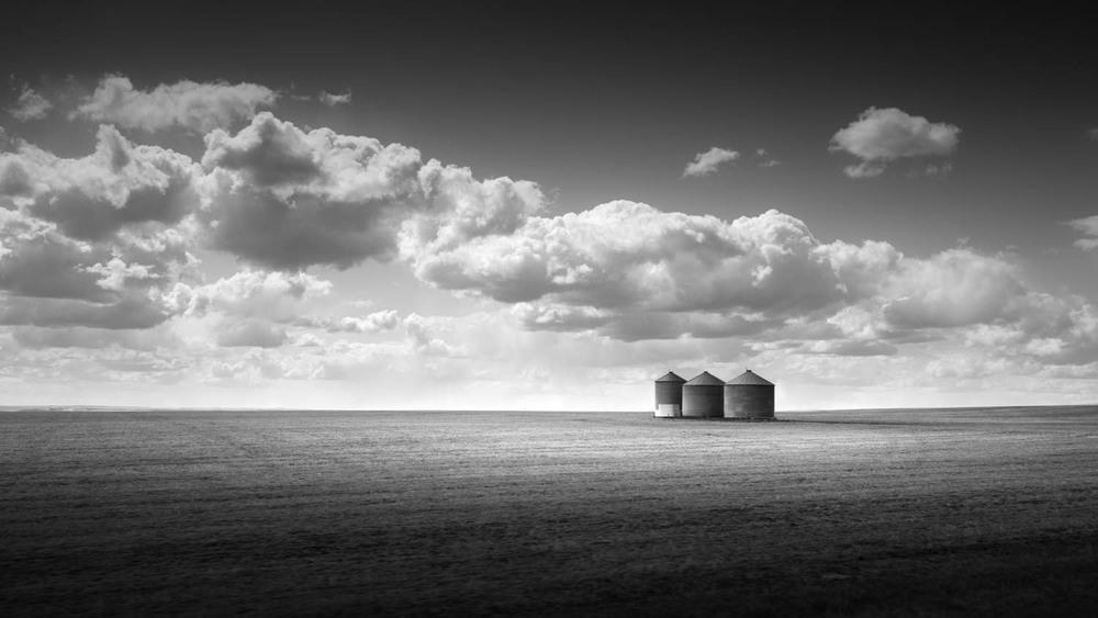 Three silos