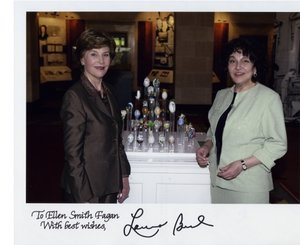 2007 White House State Easter Egg Display - Elle Fagan with First Lady Laura Welch Bush -  and First of a gallery here of key events in the career so far....  this one so memorable that it has its own page here  - God Bless America.