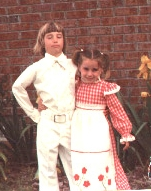 Mothers Day 1976 - Proud BiCentennials  Peter and Amanda being noble and good!