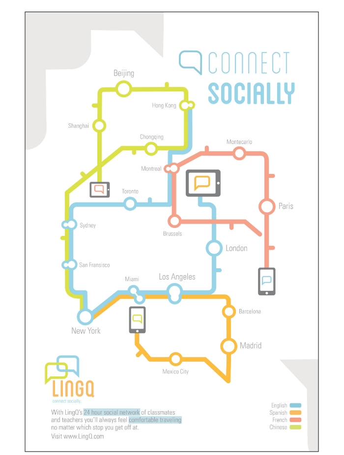 Subway Poster Design showing how the learning platform can connect you with other people in the program | David Blank