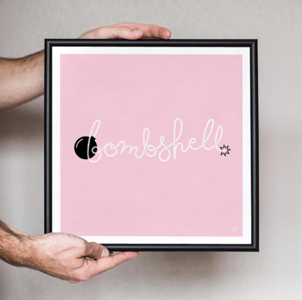 This print design originated to empower survivors of breast cancer and to accompany the breast cancer awareness line of shirts sold at Happy Bombs.