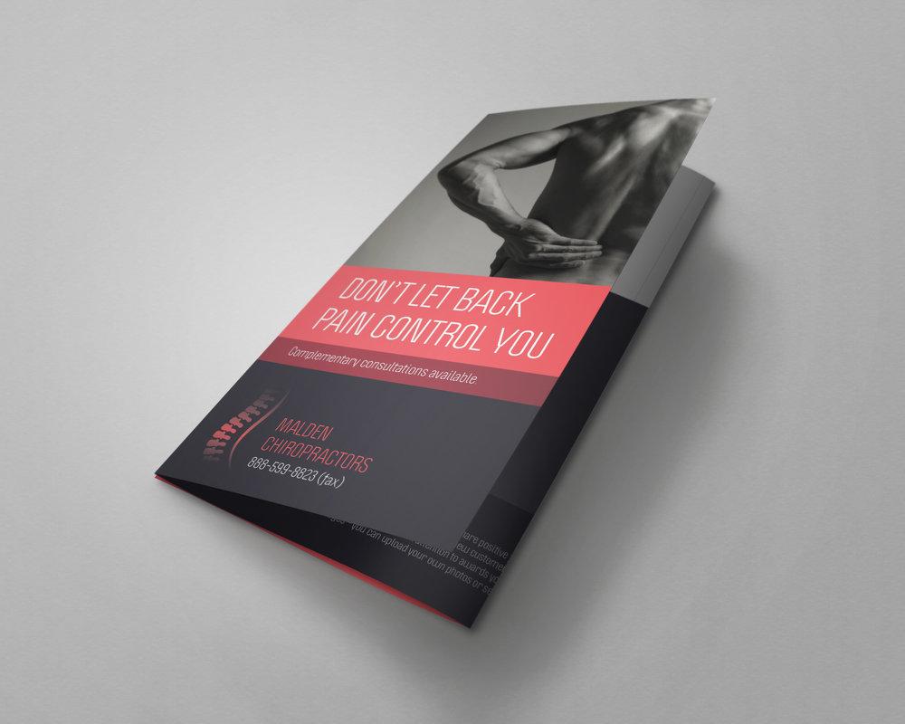 Chiropractor Tri-Fold Brochure -  2018