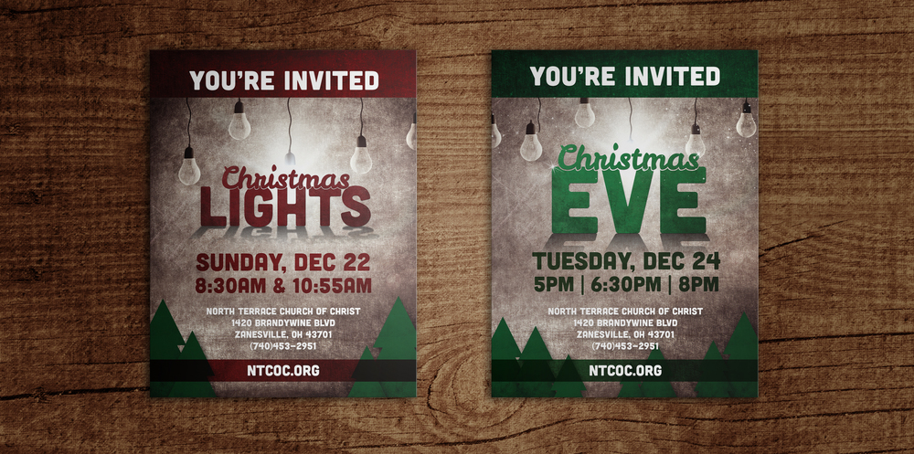 Invitations for Christmas series at North Terrace Church of Christ