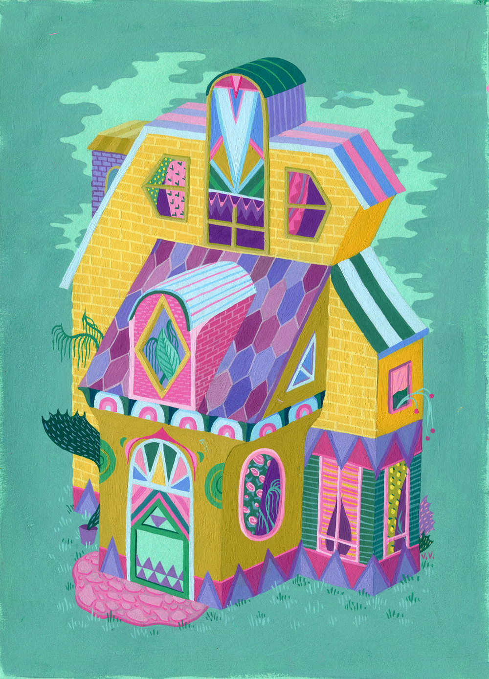 Gouache on paper, 2014. Prints and other products  here .